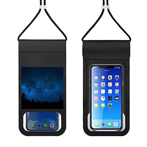 Bolsa impermeable para teléfono móvil, bolsa seca para natación, barco, pesca, esquí, rafting, compatible con todos los teléfonos debajo de 6,5 pulgadas