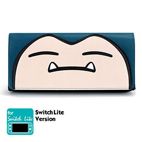 Funlab Ultra Delgado Funda de Transporte para Nintendo Switch Lite, Bolsa de Cuero Portátil con Cartuchos de Juego Estuche