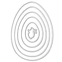 1セットの炭素鋼のイースターエッグのバニーの切断はセットを死ぬ DIYクラフト エンボスモールド紙 ホリデーカードの装飾 ハンドメイド好きの方へのプレゼントに最適
