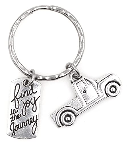 Find Joy in the Journey Graduate Moving Job Congrats Pickup Gift Sweet 16 Cowboy Cowgirl Outdoor Wild West Hat Boots Gun Rack Country Dallas Western Horseshoe Horse Ranch Urban Truck Keychain 110U