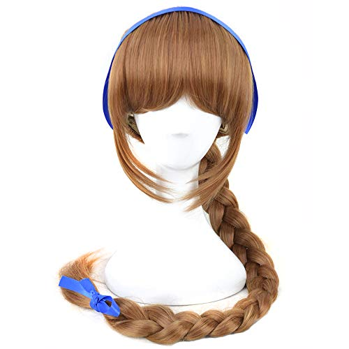 Yuehong Fairies Cosplay Wig Brown Long Braid Anime Halloween Costume Wigs