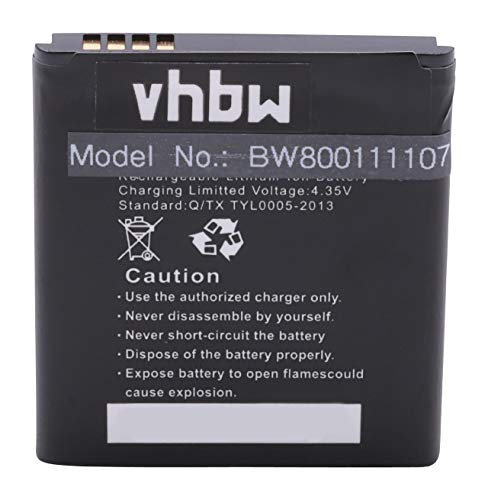 vhbw Li-Ion Akku 1950mAh (3.8V) für Handy Smartphone Telefon Archos 40 Cesium, Karboon Wind W4 wie KTSP1950AA