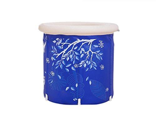Sunjun& Barriles de baño para adultos Cojín incorporado Barriles de baño Bañera de baño para niños Baño inflable inflable para bañarse en casa Baño plegable ( Tamaño : 70*70 )