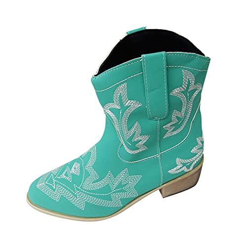 Bottines Femmes Talons Low Boots Femme Art Imprimer Pointu Décontractée