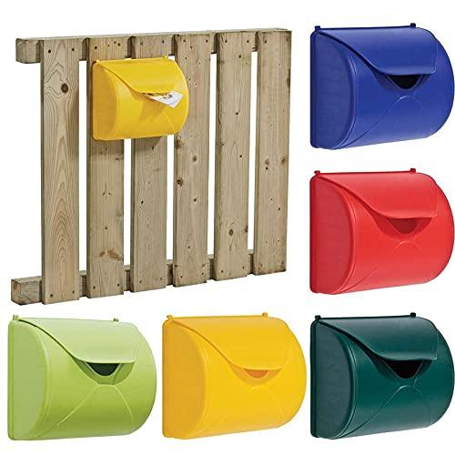 Briefkasten Blau Gelb Rot grün Spielzeug für Kinder-Spielhaus Outdoor, Farbe Diverse Artikel:Blau