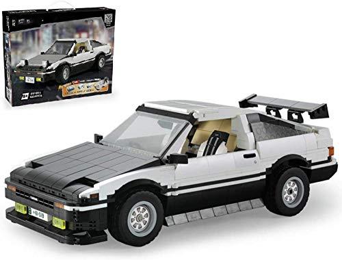 Kit blocchi auto da corsa Toyota AE86, telecomando con telecomando e motore, 1200 morsettiere, compatibile con Lego Technic Fernbedienung,1