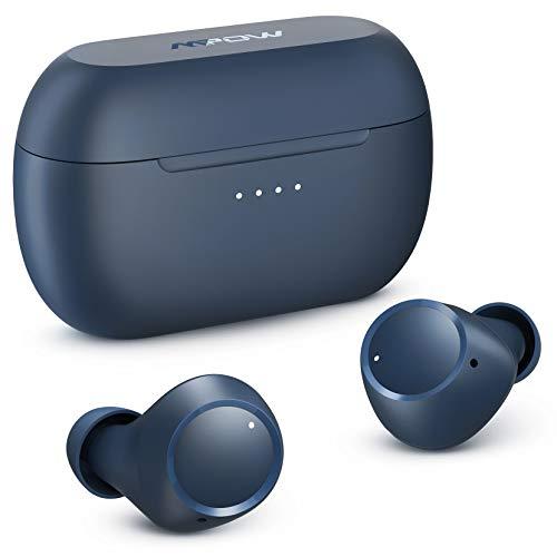 Wireless Earbuds, Mpow M13 Bluetooth Headphones in Ear, Wireless Charging&USB-C Charging Bluetooth Earphones Sport, w/Punchy Bass/ IPX8 Waterproof/28 Hrs/Twin&Mono Mode/Touch Control/Mics