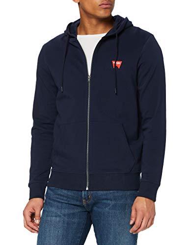 Wrangler Sign off Zip Sweater, Blu (Navy 114), X-Large Uomo