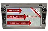 M.I.C. AO7-Lite Android 10 Autoradio mit navi Ersatz für Opel Antara Astra h Combo Corsa d Meriva Signum Vectra Vivaro Zafira b: DAB Plus 2 Din Bluetooth 5.0 WLAN 7' IPS Bildschirm 2G+32G USB sd GPS