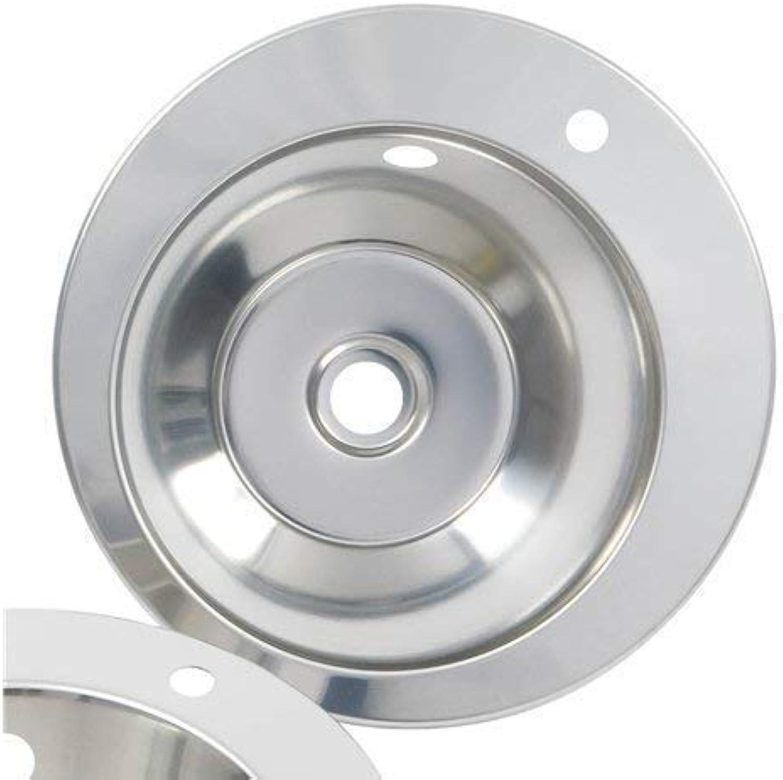 FIN260R1TH Hand Waschbecken Einbauspüle, rund, 340 mm, Edelstahl, mit Hahnloch