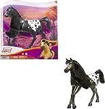Spirit Semental Negro Caballo mustang de juguete con crin y cabeza articulada (Mattel GXD98)