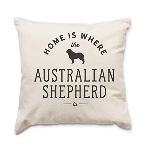 Groot rood ei huis is waar de OOSTENRIJK SHEPHERD is - kussensloop kussen - hond cadeau cadeau