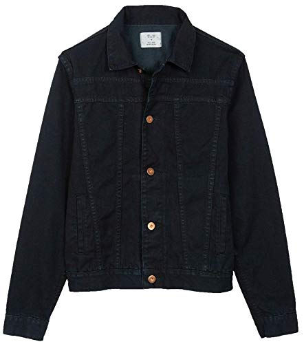 Billy Reid Men's Cullen Denim Trucker Shirt Jacket, Double Dye Wash, Medium