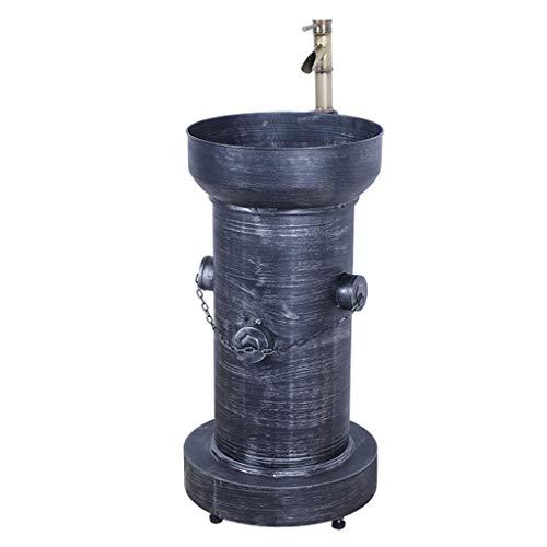 BBGS Eisen Art Handwaschbecken Waschbecken, Industrie Säule Kreativität Retro Waschtisch für Kleine Garderobe Badezimmer (Color : B)