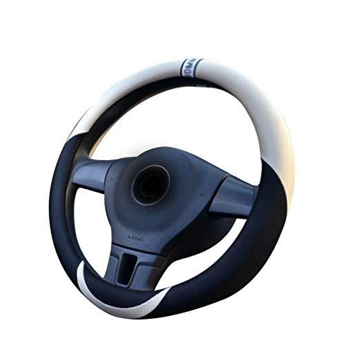 Mengmiao Lenkrad Abdeckung Eisseide Bequem rutschfest Auto Lenkradabdeckung Atmungsaktiv Universal Lenkradhülle (Beige, 38 cm(Außendurchmesser))