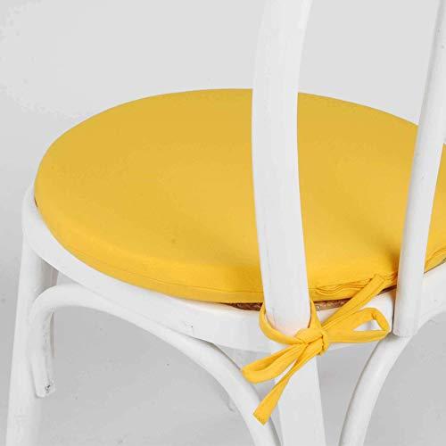 Arketicom MY KISSEN Cuscino sedie cucina ROTONDO per sedie e arredo cucina moderna sedie esterno. Coprisedia Rotondo