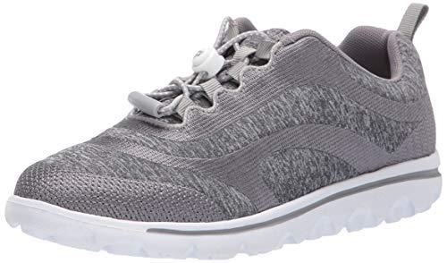 Propet Women's TravelActiv Aero Sneaker, Silver, 08H B US