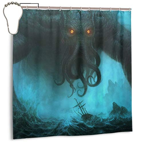 GZLFDTH-LJ 72 X 72 Inches Bathroom Shower Curtain Dead Cthulhu Waits Dreaming WaterproofDecorative Bathroom Curtain