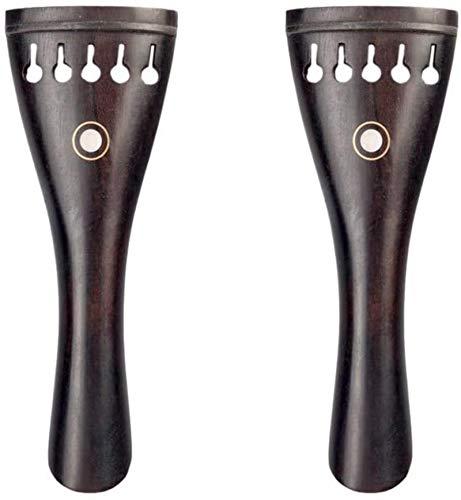 SHANCL Profesional 2 Piezas de ébano 5 Cuerda de violín Cordal, 5...