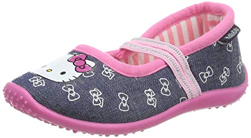 Hello Kitty Girls Kids Ballerina Houseshoes, Chaussons Bas Fille, (Navy Nav), 30 EU