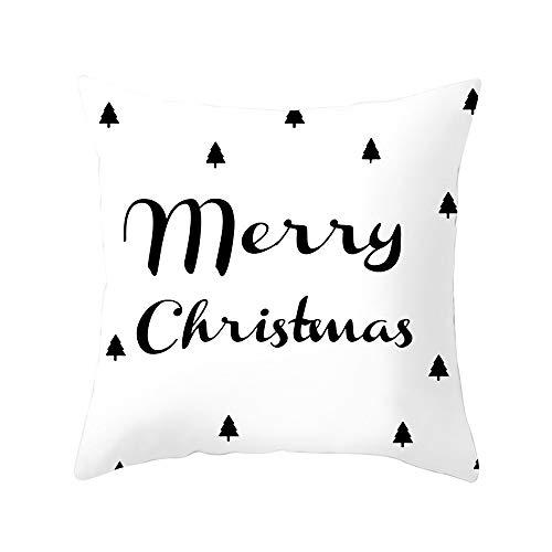 Kissenbezug,1 Stück Elegant Weiche Bronzing Zierkissenbezüge Kissenbezug,Merry Christmas Serie Sofa Bett Home Decor Throw Kissen Fall Kissenhülle,45cm x 45cm (F)