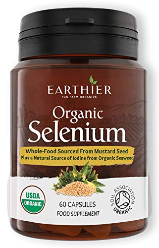 Organic Selenium 200mcg Plus Iodine and Silica - Selenium contributes to Normal Thyroid and Immune Function – 2 Month Supply - Whole Food Supplement - Certified Organic by Soil Association