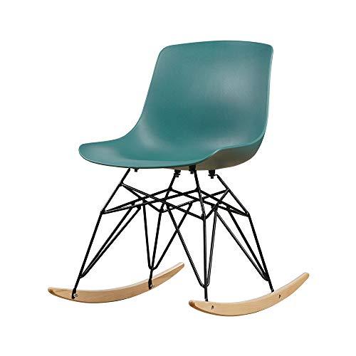 HYRL Mid-Century Schaukelstuhl, Kunststoff Schaukelstuhl Sessel Möbel Schlafzimmer,Green