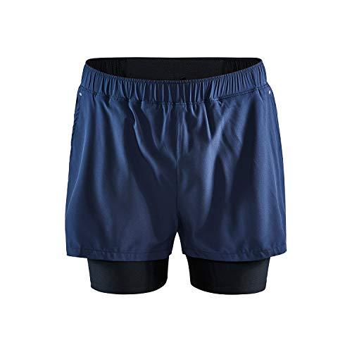 Craft Advance Essence - Pantalones Cortos elásticos 2 en 1 para Hombre, Hombre, Pantalones Cortos, 1908764-396000-7, Blaze, XL