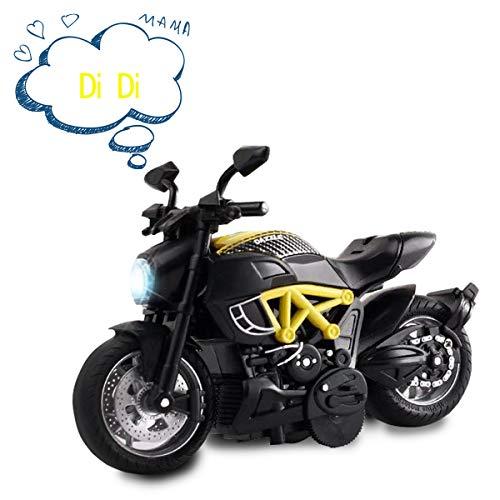 ALLCELE Rückzieh-Motorrad-Autos mit Sound und Licht, Spielzeug für Jungen für 2 Jahre, tolles Geschenk für Kinder