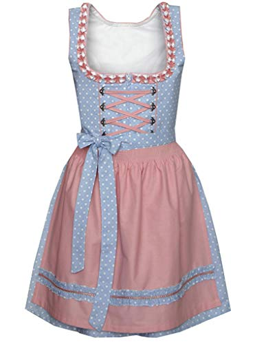 n.a. Dirndl Mini 50 cm Oberschönegg hellblau/rosa, Gr. 34