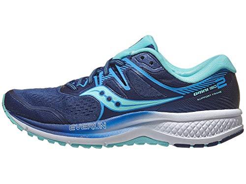 Saucony Omni ISO 2 Chaussures de course pour femme, (Bleu marine/bleu-vert), 35.5 EU