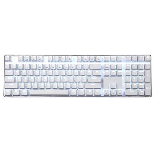 Mechanische Tastatur Cherry MX Red Switch Hintergrundbeleuchtung Tastatur 108 Tasten White Case Magicforce Gaming Keyboard von Qisan