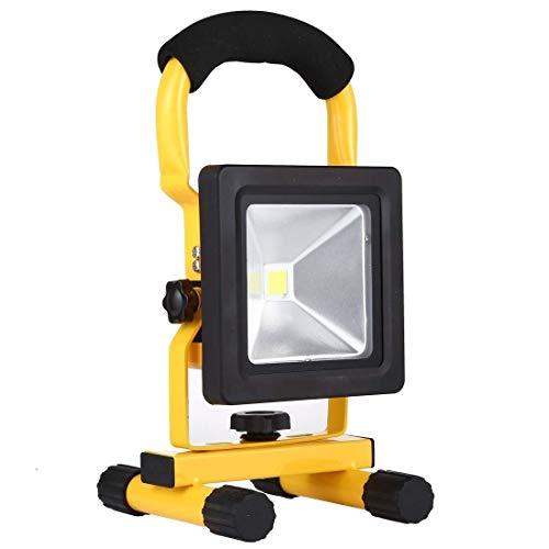 QINGJIA Decoración de Iluminación, Luz de inundación LED recargable 10W 880LM 6000-6500K IP65 a prueba de agua COB con lámpara de trabajo de cargador de coche, linterna CA 85-265V de iluminación