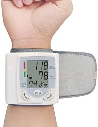 Handgelenk-Blutdruckmessgerät für Zuhause, digitale automatische Messen Blutdruck mit Herzfrequenz-Impuls-Erkennung mit LCD-Anzeigen 2 Benutzermodus