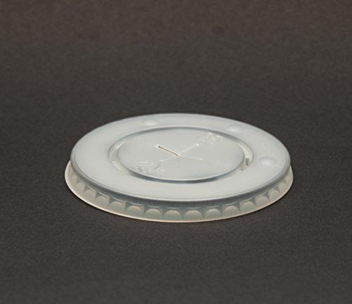 80mm 90mm wegwerp plastic koude drank catering papier kopjes stro sleuf deksels