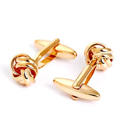 Cufflez Cufflinks – Manschettenknöpfe, das MUSS zu jedem Outfit – Goldener Knoten
