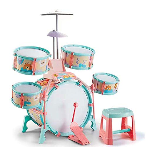 Heizung Children's Musical Toys Large Beginner Drum Set Children's Toy Boys and Girls Percussion Drum Musical Instrument Jazz Drum Early Education Educational Music-Birthday Best Gift for Girls