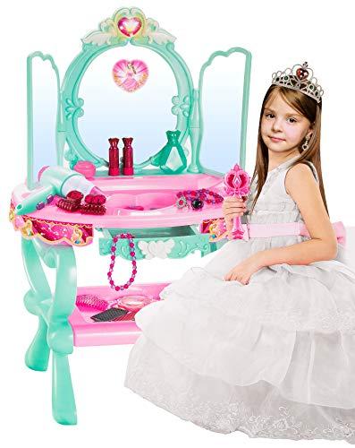 Kinderplay Schminktisch Spielzeug Frisiertisch Mädchen Spielzeug MIT MP3-ANSCHLUSS-2 KP2049 Schönheitsstudio