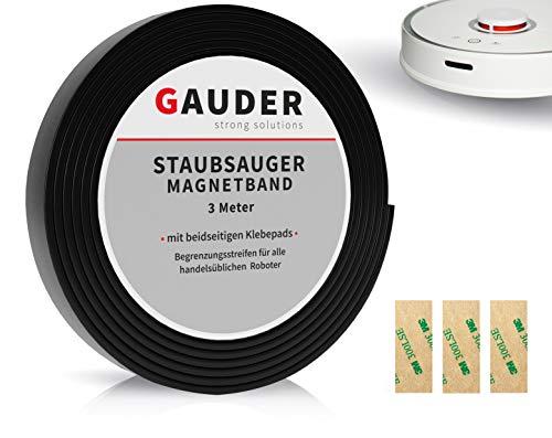 GAUDER Saugroboter Magnetband NEUE VERSION 2021 I Für Neato, Xiaomi, Miele, Vorwerk & Tesvor (3m)
