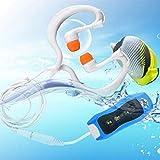 ORETG45 Reproductor de música MP3 multifunción con cable, radio FM, buceo, casa, portátil, natación, IPX8, impermeable, recargable, deportes acuáticos (azul)