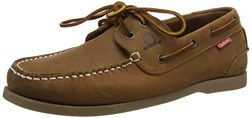Galley II Dark Tan Premium Leather Boat Shoes-9