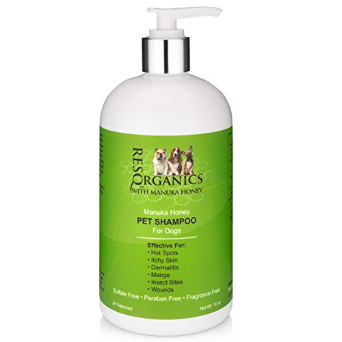 Anti-itch Dog Shampoo for Allergies and Itching - Hypoallergenic Manuka Honey Healing Pet Shampoo for Dogs with Sensitive, Dry Itchy Skin, Shedding Issues. Natural and Organic!