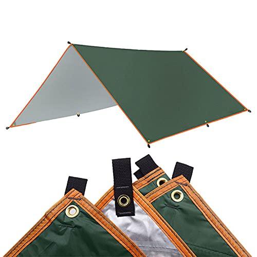 GYAM Tienda de Lona Impermeable Sombra 4x3m 3x3m Toldo Toldo de jardín Sombrilla Hamaca para Acampar al Aire Libre Playa Sol Refugio,Verde,3 * 3m
