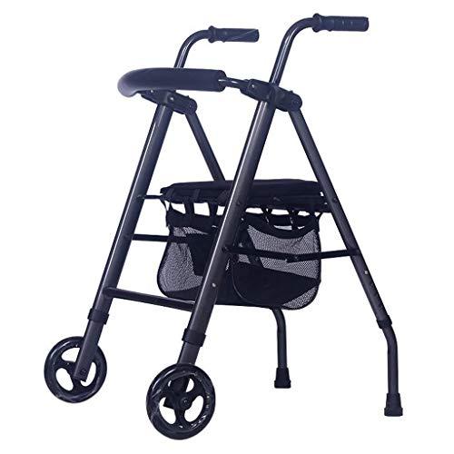 Yxsd Inklapbare Ouderen Walker Winkelwagen Vierwielige Hand Walker kopen Voedselwagen