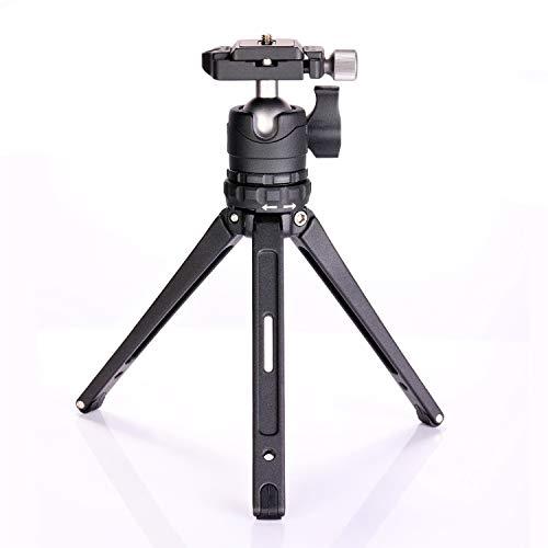 Neewer Mini Trépied Macro 19cm Portable sur Table avec Rotule à 360 Degrés, 1/4 Pouce Plaque de Dégagement Rapide pour Appareil Photo Canon Nikon DSLR, Charge jusqu'à 8 kg