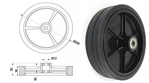 Ruote Zabi per falciatrici/Ruote per tosaerba=d 200 mm cuscinetto a sfera