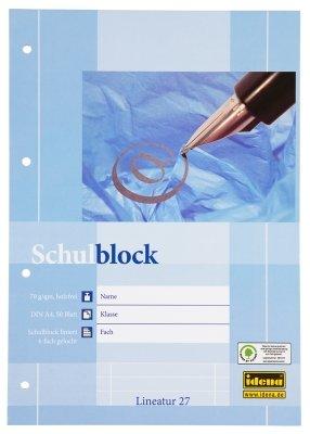2 Schulblöcke/Schreibblöcke liniert DIN A4 / 50 Blatt je Block