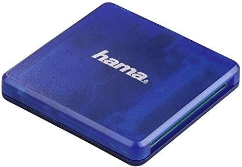 Hama Lecteur multi-cartes USB-2.0, SD/microSD/CF, bleu