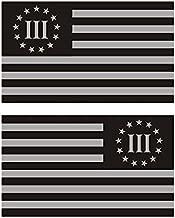 """2-4/"""" 3 Percenter 3 /% Olive Green Black Subdued Flag Decal SET Sticker RL"""