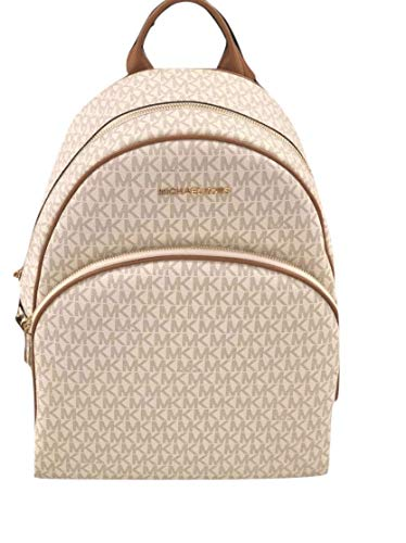 "Michael Kors Backpack Vanilla PVC Top zip-around closure. Adjustable shoulder straps. Exterior zip pocket. Interior wall and slip pockets 11""W x 15""H x 5""D"